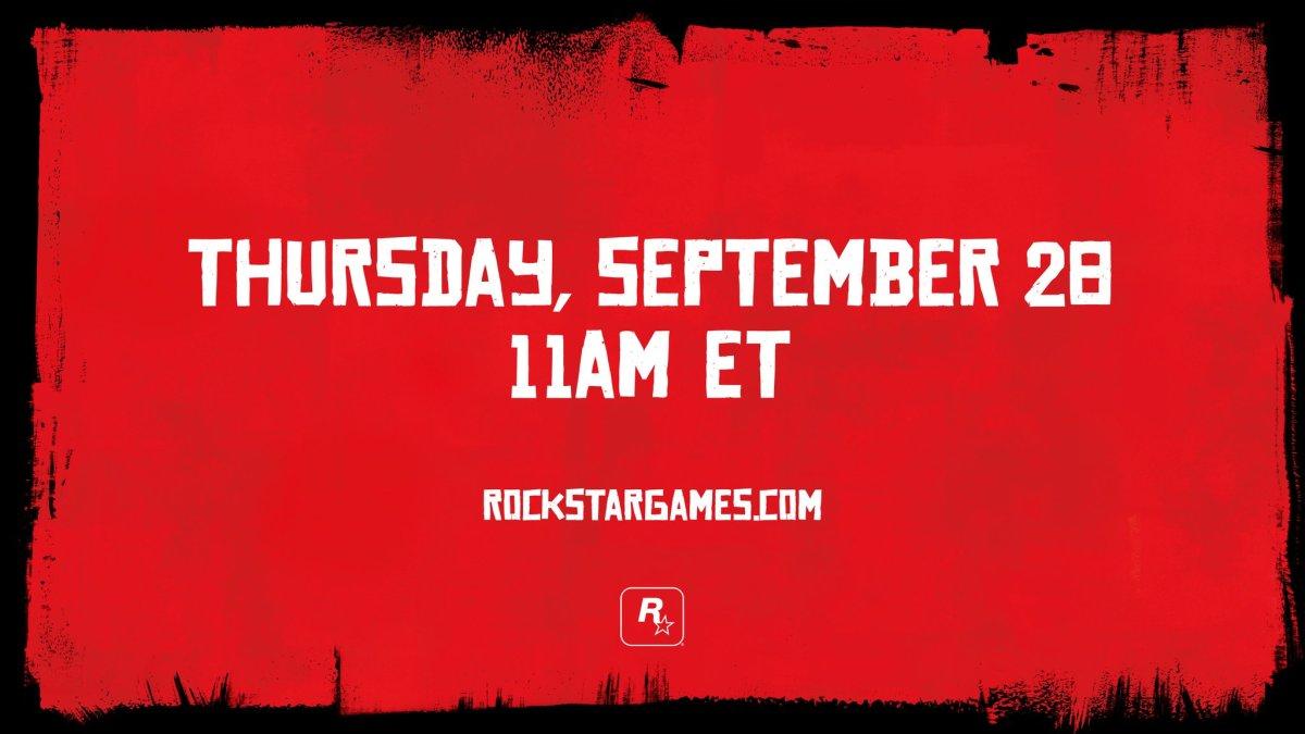 Red Dead Redemption 2 : Rockstar tease une annonce pour le 28 septembre !